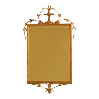 Friedman Brothers Gold Framed Beveled Mirror For Sale