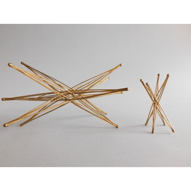 Vintage Wire Folding Kostick Stars - a Pair For Sale - Image 5 of 6