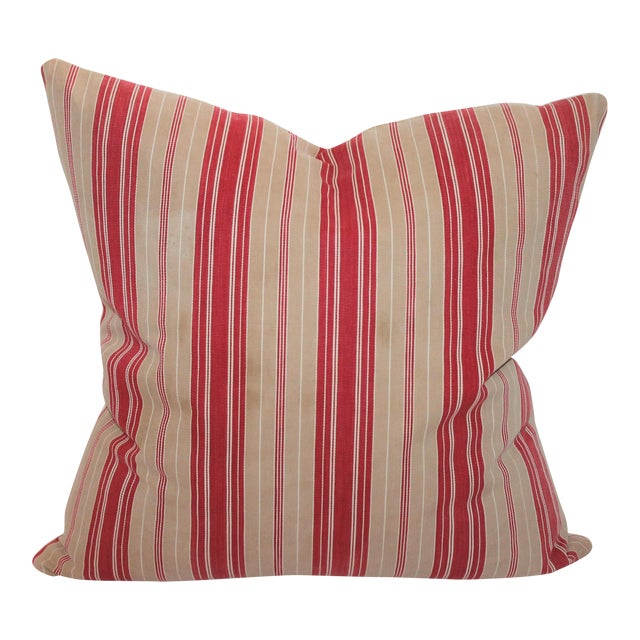 Red Striped Ticking Pillow - Image 1 of 5