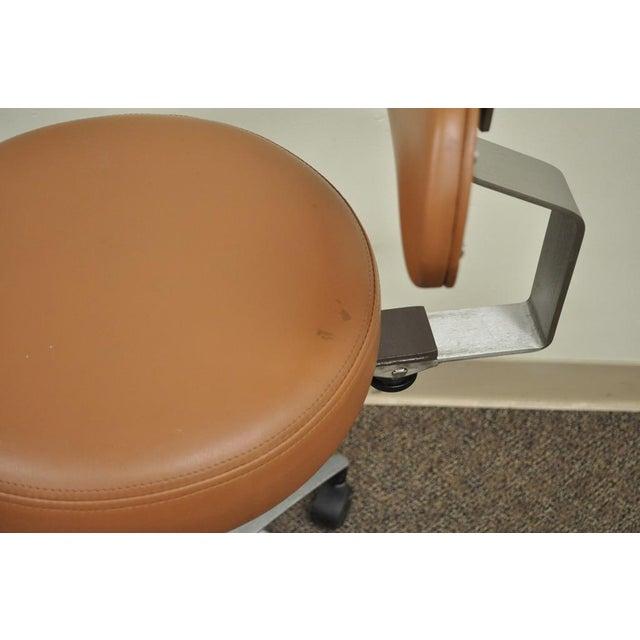 Vintage Mid Century Industrial Modern Adjustable Dental Dentist Chair Stool Seat For Sale - Image 9 of 11