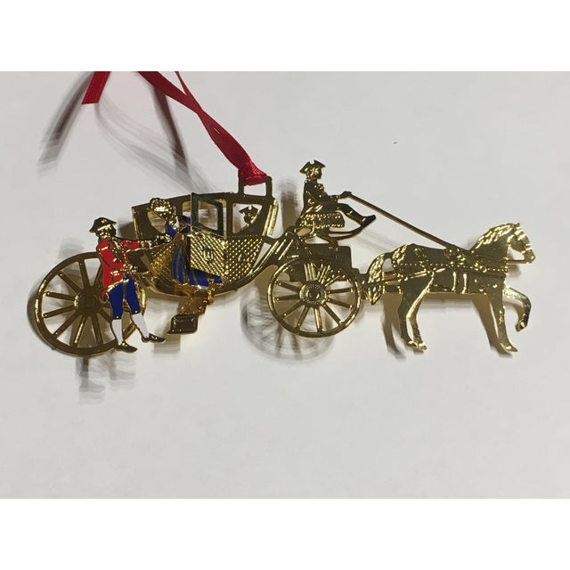 Gold Horse & Carriage Christmas Tree Ornament For Sale - Image 8 of 8