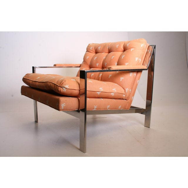 Vintage Chrome Upholstered Arm Chair by Cy Mann - Image 5 of 11