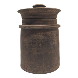 19th Century Carved Wooden Vessel For Sale