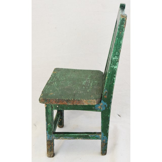 Early 1900s Primitive Country Child's Chair - Image 7 of 9