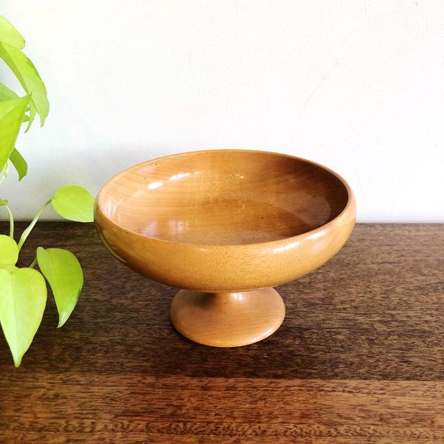 """Vintage polished Myrtlewood bowl, marked """"Myrtlewood Oregon."""""""