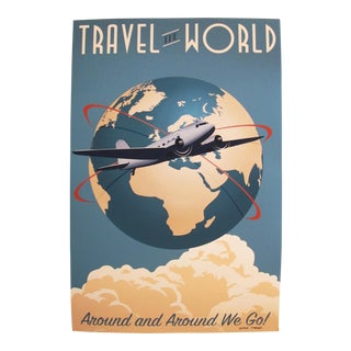 Travel the World, Artist Signed Contemporary Poster For Sale