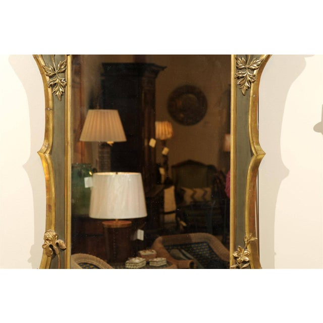 Art Nouveau Style Gold & Taupe Mirror For Sale In Atlanta - Image 6 of 11