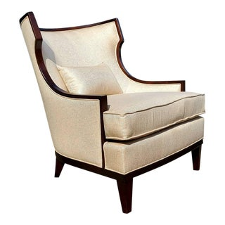Henredon Furniture Barbara Barry Accent/Lounge Chair W/ Kidney Pillow For Sale