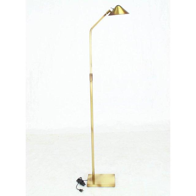 George Kovacs Adjustable Mid-Century Modern Brass Floor Lamp George Kovacs For Sale - Image 4 of 9