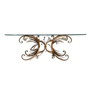 Gilded Sheath of Wheat Coffee Table For Sale