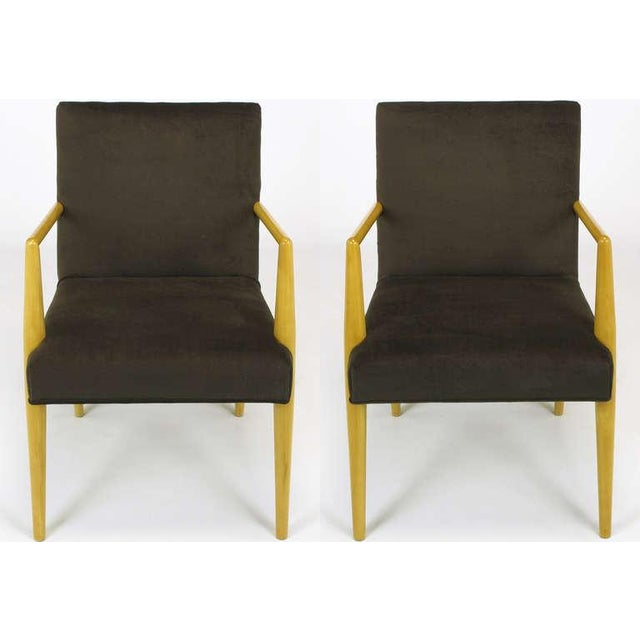 Pair T.H. Robsjohn-Gibbings For Widdicomb Open Arm Chairs. - Image 2 of 10