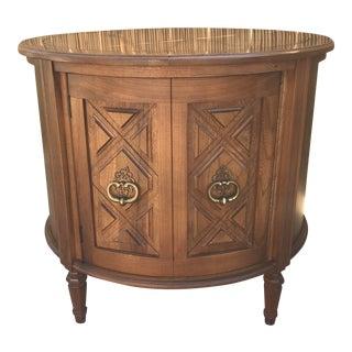 1950s Mid Century Drexel Heritage Round Drum Table For Sale