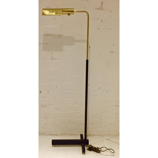 Casella Brass and Black Mid-Century Floor Lamp For Sale - Image 9 of 9