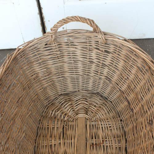Oval Vintage French Laundry Basket - Image 3 of 8