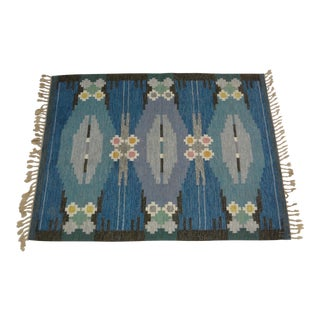 "Swedish Flat Weave Rug - 5'6"" X 7'4"" For Sale"