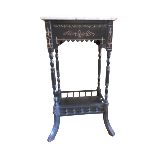 Antique Marble Top Stand - Image 1 of 4