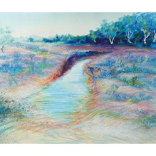 Impressionist Monoprint Landscape For Sale