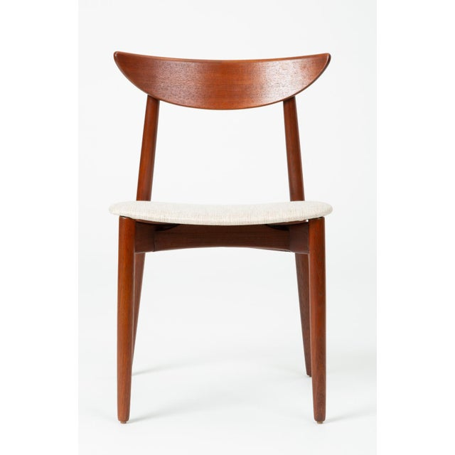 Designed circa 1960 by Harry Østergaard, this desk, dining or accent chair was manufactured in Denmark by Randers...