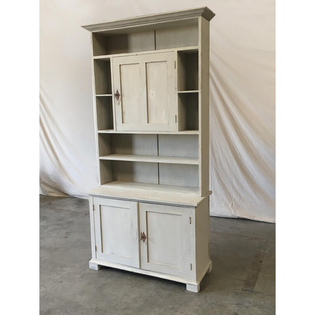 Wood Swedish Antique Wall Bookcase Cabinet For Sale - Image 7 of 8