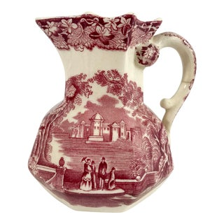 Mason's Ironstone Red Transferware Creamer For Sale