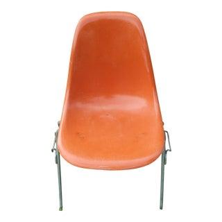 1950s Vintage Orange Eames for Herman Miller Chair For Sale