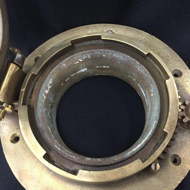 Vintage Brass Ship Porthole For Sale - Image 5 of 6