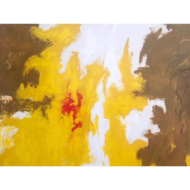 """Clyfford Still Abstract Expressionst Offset Lithograph Print Museum Poster """" Ph - 321 """" 1948 For Sale In Kansas City - Image 6 of 13"""