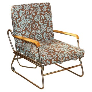 1950s Vintage French Francois Caruelle Lounge Chair For Sale