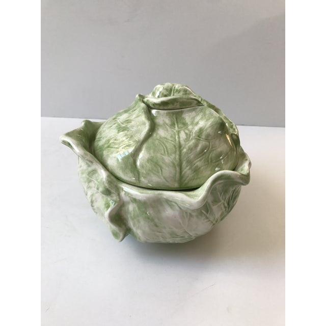 Cabbage Shaped Lidded Soup Bowl For Sale - Image 5 of 10