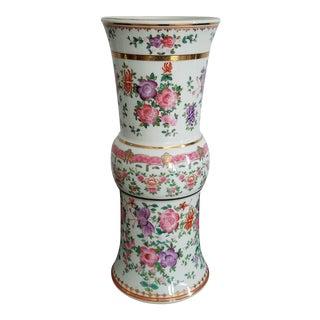 Vintage Hand Painted Porcelain Vase - Floral Lowestoft