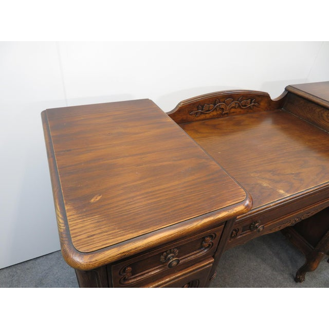 Wood Louis XV Style Carved Oak Vanity For Sale - Image 7 of 11