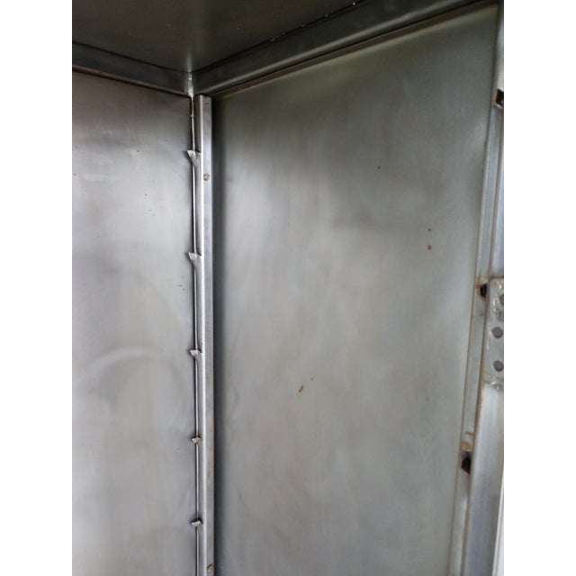 Modern Welded Steel Designer 2 Door Display Cabinet For Sale - Image 10 of 13