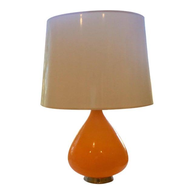 Robert Abbey forJonathan Adler Orange Capri Table Lamp For Sale
