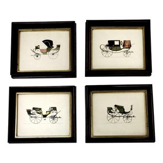 Early 20th Century Carriage Lithographs- Set of 4