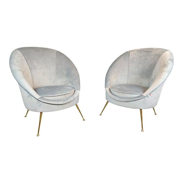 Italian Mid-Century Armchairs - a Pair For Sale