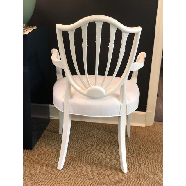 Wood 1930s Hepplewhite Shield-Back Chairs — a Pair For Sale - Image 7 of 10