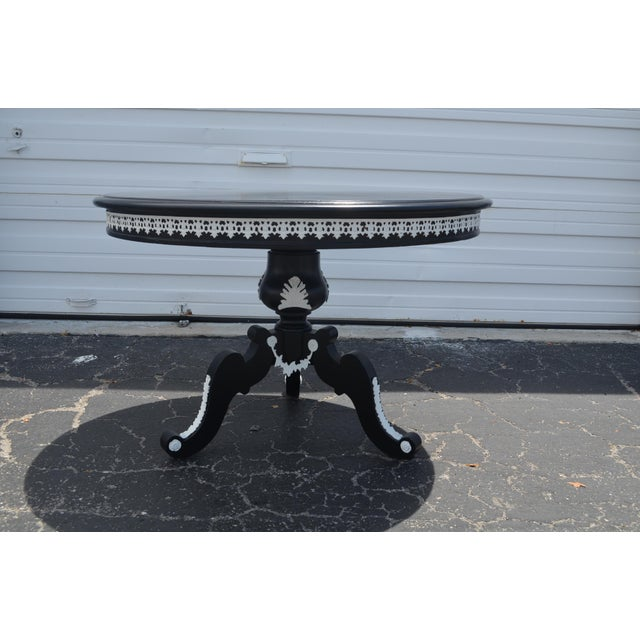 """1960s Vintage """"Tuxedo"""" Table For Sale - Image 4 of 11"""