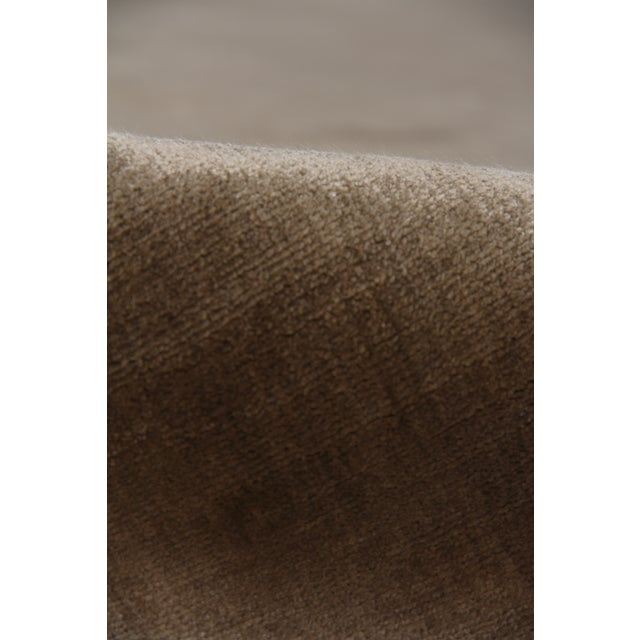 Transitional Exquisite Rugs Durham Hand loom Viscose Khaki Rug-8'x10' For Sale - Image 3 of 7