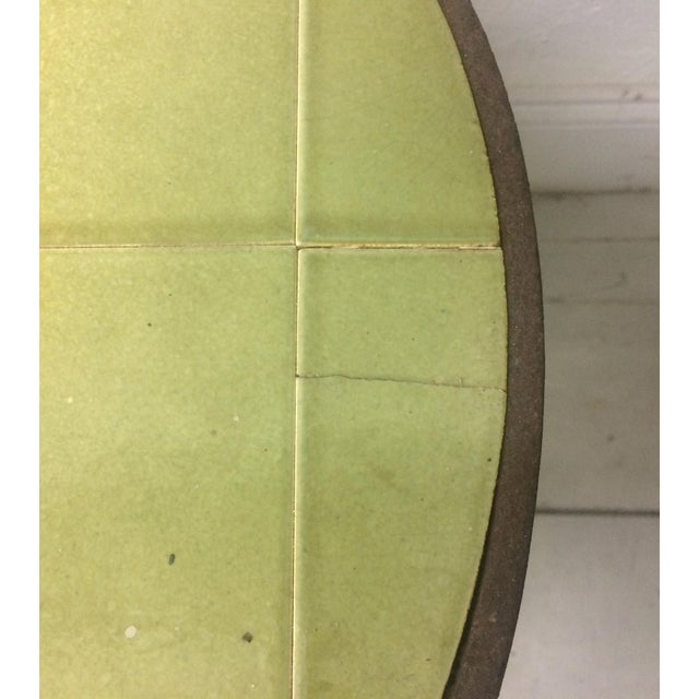 1950s Vintage Abbaye Du Bec Abstract Tile Table From For Sale - Image 4 of 9