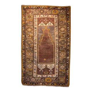 Early 20th Century Antique Turkish Rug - 3′5″ × 5′8″ For Sale