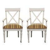 Image of Late 20th Century Ethan Allen Regent's Park Dining Arm Chairs-A Pair For Sale