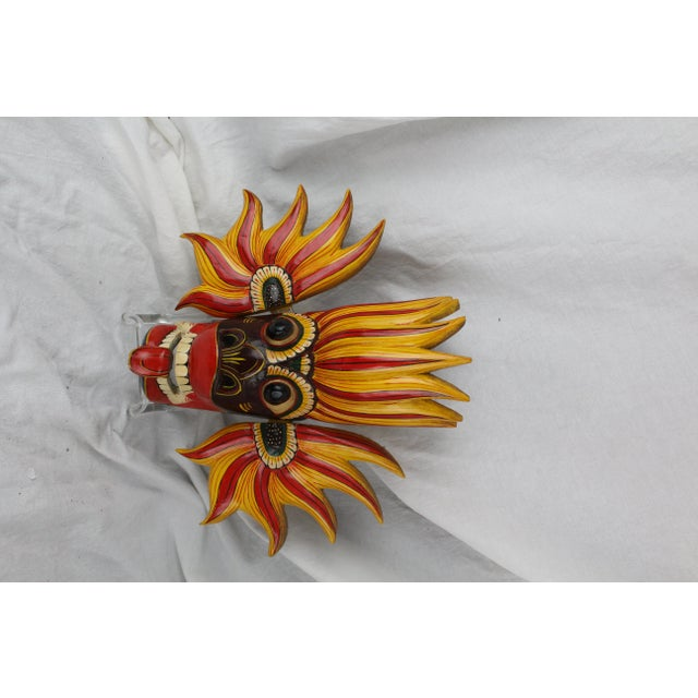 Mid 20th Century Vintage Asian Dragon Mask For Sale - Image 5 of 8