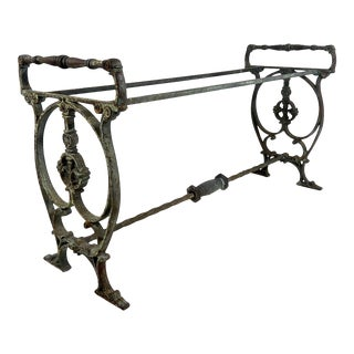 Antique Cast Iron Victorian Garden Seat or Bench Frame For Sale