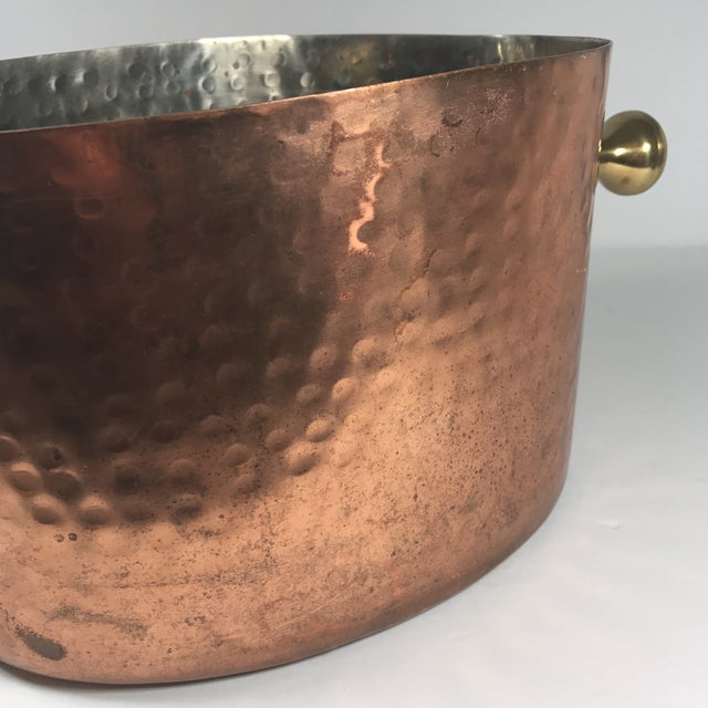 Copper Vintage Copper Double Champagne Bucket For Sale - Image 7 of 11