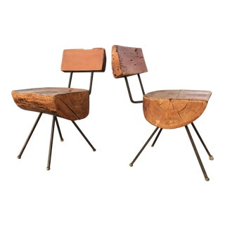 Sabena Organic Rustic Modern Chairs - A Pair For Sale
