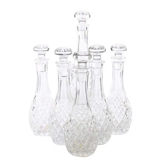 """Waterford Crystal Decanters in the """"Comeragh"""" Pattern For Sale"""