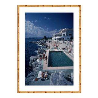 Slim Aarons Hotel du Cap-Eden-Roc Gold Bamboo Framed Photograph