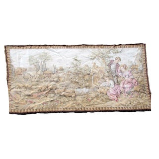 1950s, Vintage French Tapestry 2.6' X 5.1' For Sale