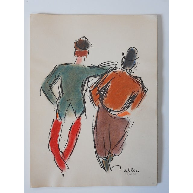 Limited Ed. Lithograph Mid 20th C. Clowns of Paris - Image 2 of 6