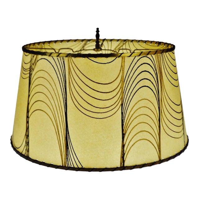 Mid century fiberglass lamp shade with brass trim chairish mid century fiberglass lamp shade with brass trim aloadofball Images